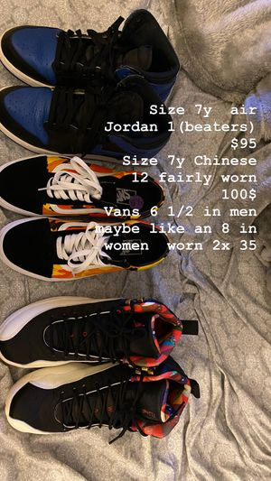 Jordan and vans for Sale in Sacramento, CA