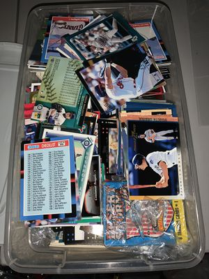 Bucket of sports cards for Sale in Stoughton, MA