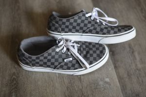 Vans - size 6 Youth - black/ gray checkered - Laces - Old School Classic - style# 721356 for Sale in Longmont, CO