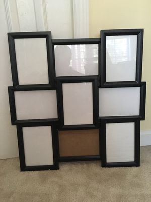 9 opening collage frame (black) for Sale in Herndon, VA
