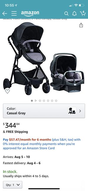 Evenflo pivot car seat, stroller and baseb for Sale in McAllen, TX