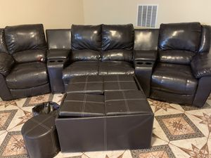 Theatre style seats sofa for Sale in Lorton, VA