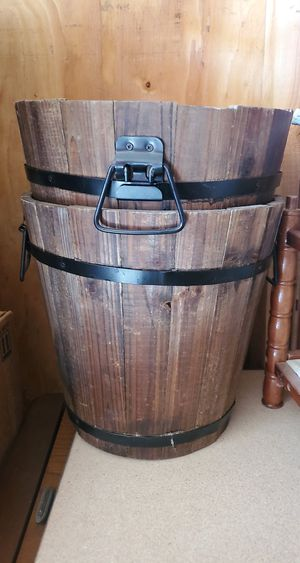 2 Wooden Buckets from Lowe's for Sale in Visalia, CA
