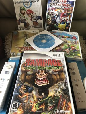Nintendo Wii fun for under $100!! Comes with 6 top seller games!! for Sale in San Antonio, TX