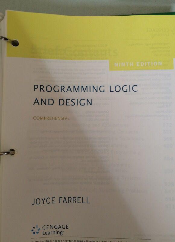 programming logic and design comprehensive ninth edition