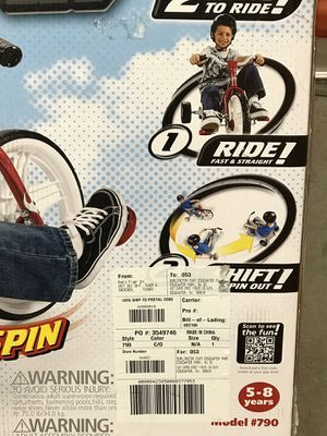 New- Radio Flyer - TailSpin Bike graphics for Sale in Chantilly, VA