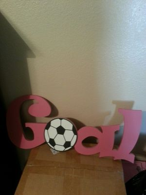Hanging Goal sign for soccer for Sale in Denton, TX