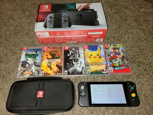 Nintendo switch with dock plus 5 games for Sale in Farmers Branch, TX