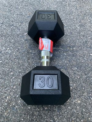 New 30lb Dumbbell - Single Dumbbell (30lbs Total) for Sale in Millis, MA