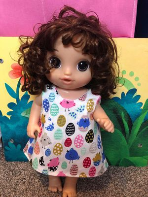 """13"""" inch baby alive doll dress made to fit 13"""" baby alive dolls for Sale in Peoria, IL"""