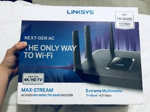 Linksys AC4000 MU-MIMO Tri-Band for Sale in Arlington, TX