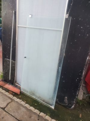 Free glass shower door and mirror behind it for Sale in Santa Ana, CA