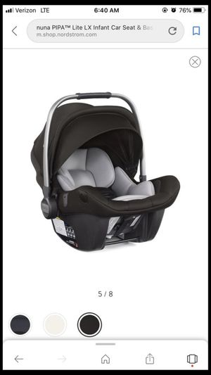 Nuna pipa lite LX lightweight 5lb infant car seat for Sale in Kennewick, WA