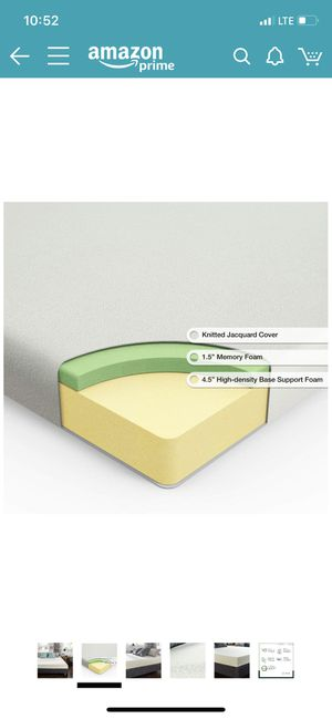 Zinus Ultima Comfort Memory Foam 6 inch Full Size Mattress for Sale in Fort Belvoir, VA