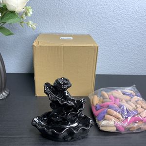 Waterfall Incense Burner with 120 Backflow Incense Cones for Sale in Allen, TX