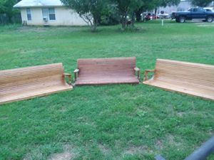"""5' (60"""") Handcrafted wooden swing. for Sale in Spicewood, TX"""