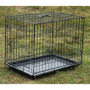 Brand new in box 24x20x17 Inches 2 Doors Pet Cage Dog Kennel Crate Foldable Portable Fold and Store Away for Sale in South El Monte, CA