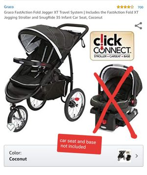 Graco FastAction Fold Jogger XT Travel System   Includes the FastAction Fold XT Jogging Stroller color is Coconut as pictured, OBO for Sale in Everett, WA