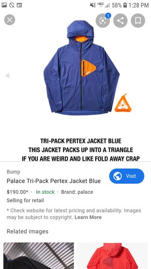 Brand new with tags palace tri pack pertex jacket for Sale in El Cajon, CA