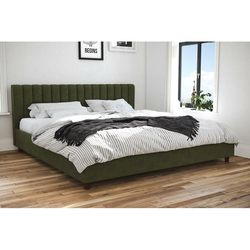 Green Upholstered Platform King Bed for Sale in Beaverton,  OR