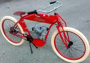 Replica 1909 indian boardtracker kit 80ccmotorized bike motorcycle harley etc for Sale in Davie, FL