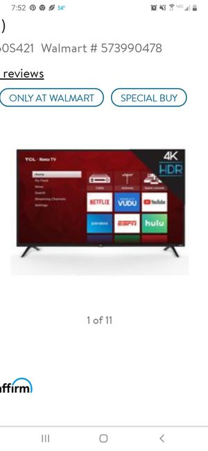 TCL roku smart tv 50 inch like new for Sale in Plant City, FL