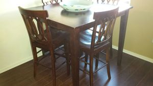 Hi top solid wood table for Sale in Phoenix, AZ