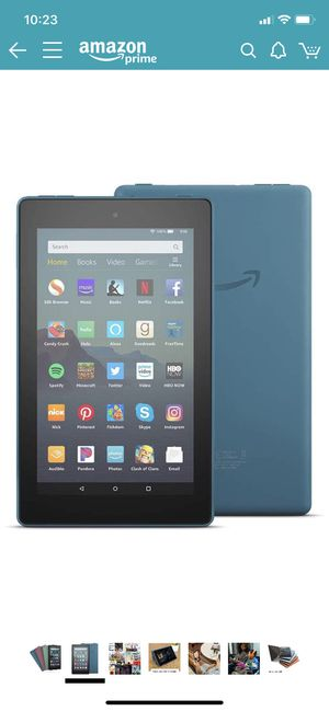 New Amazon Kindle Fire 7 32gb plus Blue Case for Sale in Ellicott City, MD