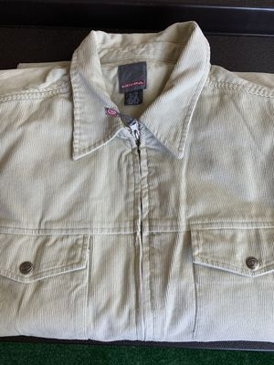 Quicksilver Off White/Tan Corduroy Jacket Size XL. New Never Worn for Sale in Huntington Beach, CA