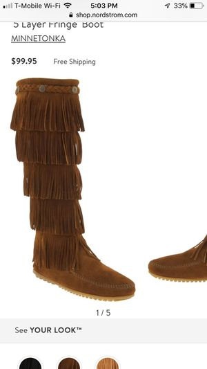New Minnetonka 5 layer fringe boots for Sale in Raleigh, NC