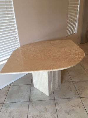 Marble table with red chair for Sale in Scottsdale, AZ