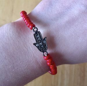 Bedazzled Red & Gold Hamsa Bracelet for Sale in Tinley Park, IL