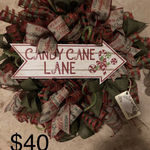 Candy Cane Lane Christmas Wreath for Sale in Riverside, CA