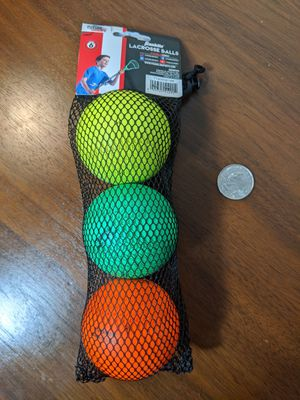 Lacrosse balls, 3-pack for Sale in Sioux City, IA