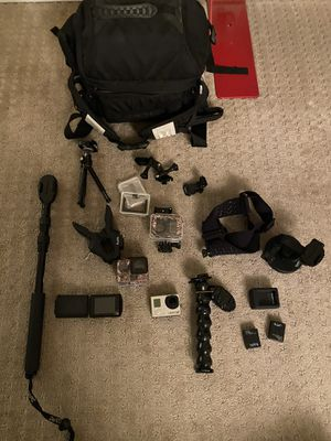 GoPro Hero3+ with a bunch of accessories for Sale in Los Angeles, CA