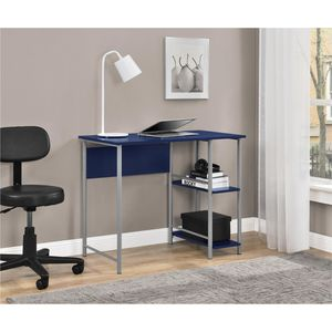 Mainstays Basic Metal Student Computer Desk, Blue for Sale in Alexandria, VA