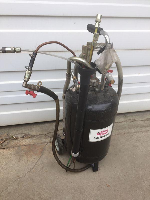 Fluid evacuater sucker