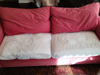 Red Couch For Free - Pick Up This Week for Sale in St. Louis,  MO