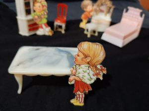 1950s blue box plastic doll furniture 8 pieces! for Sale in Littleton, CO
