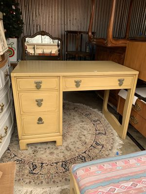 Vintage Ming Style Desk and Bench for Sale in Burke, VA
