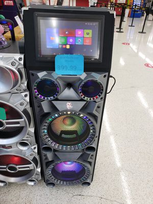 WIRELESS BLUETOOTH SPEAKER SYSTEM WITH WIFI TAB AND FREE KARAOKE WITH REMOTE CONTROL for Sale in South Houston, TX