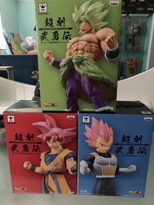 Dragon Ball Super Broly SSG Vegeta Super Saiyan God Goku for Sale in Miami, FL