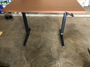 Knoll C stand hand crank adjustable height desk for Sale in Houston, TX