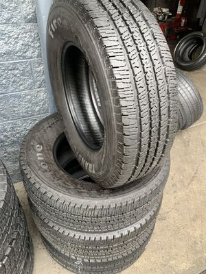 275/70/18LT set of Firestone tires installed for Sale in Ontario, CA