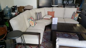 Brand New Patio Furniture Ashley Curved Sectional Sofa Tax included and free delivery for Sale in Hayward, CA