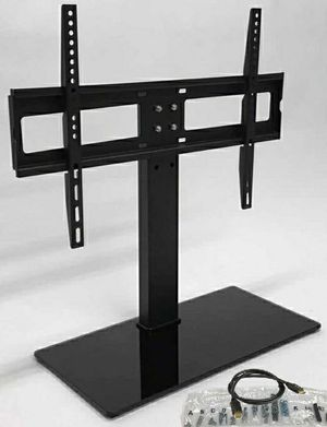 New in box 30 to 60 inches tv television stand replacement 120 lbs capacity dresser table tv stand tv mount soporte de tv, for Sale in Covina, CA