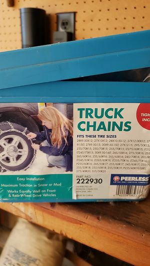 Peerless truck chains part 222930 for Sale in La Mesa, CA