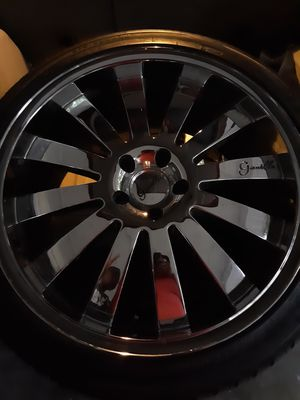 "20"" Gianalle Chrome Rims with Brand New Tires **SHIPPING AVAILABLE NATIONWIDE ** for Sale in Gulfport, FL"