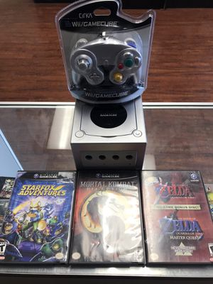 GameCube Bundle - Star Fox Adventures, Mortal Kombat Deception, and Zelda Ocarina of Time with Controller and Cables for Sale in Los Angeles, CA