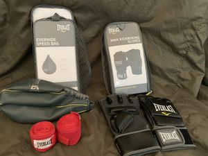 Everlast Speed Bag & MMA Kickboxing Gloves for Sale in Ripon, CA